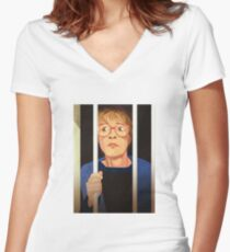 Deirdre Barlow Free the Wetherfield one Women's Fitted V-Neck T-Shirt