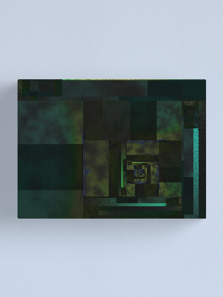 Alternate view of City Abstract Dark Blue / Marble Canvas Print