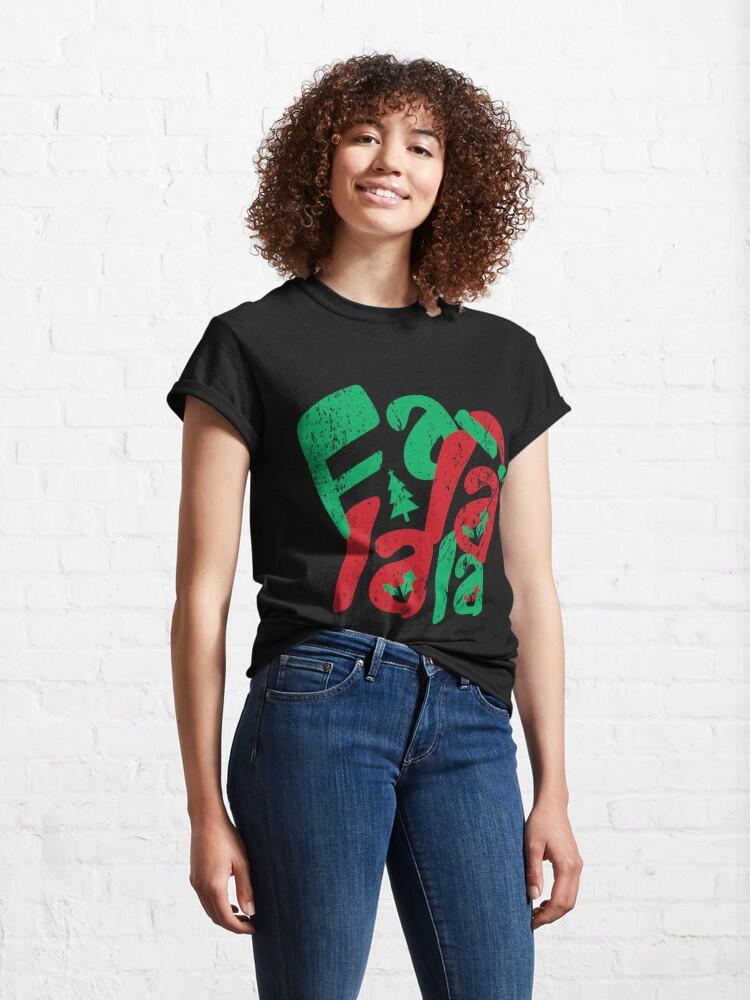 Alternate view of Vintage Christmas Fa La La La Classic T-Shirt