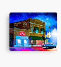 Musical Ghosts - Night Outside of Sun Studio in Memphis Tennessee Canvas Print