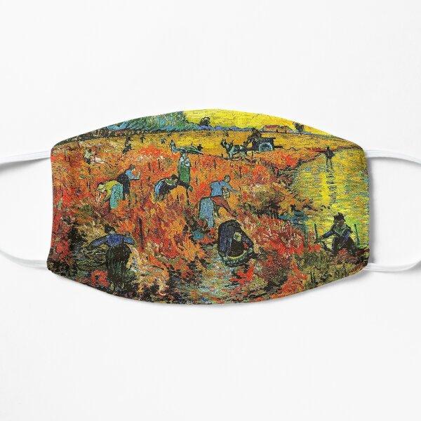 The Red Vineyard at Arles - Vincent Van Gogh Flat Mask