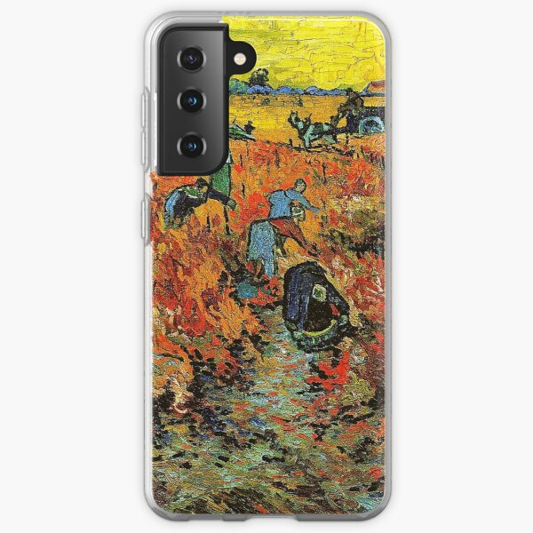 The Red Vineyard at Arles - Vincent Van Gogh Samsung Galaxy Soft Case