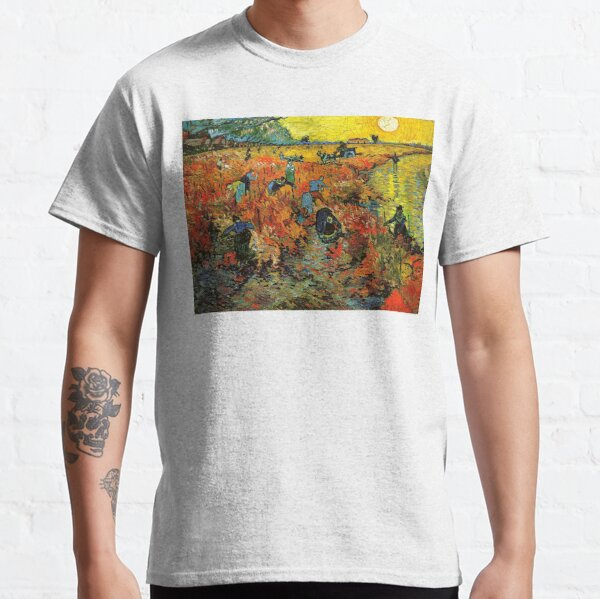 The Red Vineyard at Arles - Vincent Van Gogh Classic T-Shirt