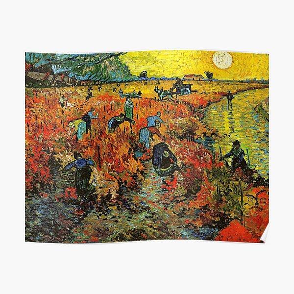 The Red Vineyard at Arles - Vincent Van Gogh Poster