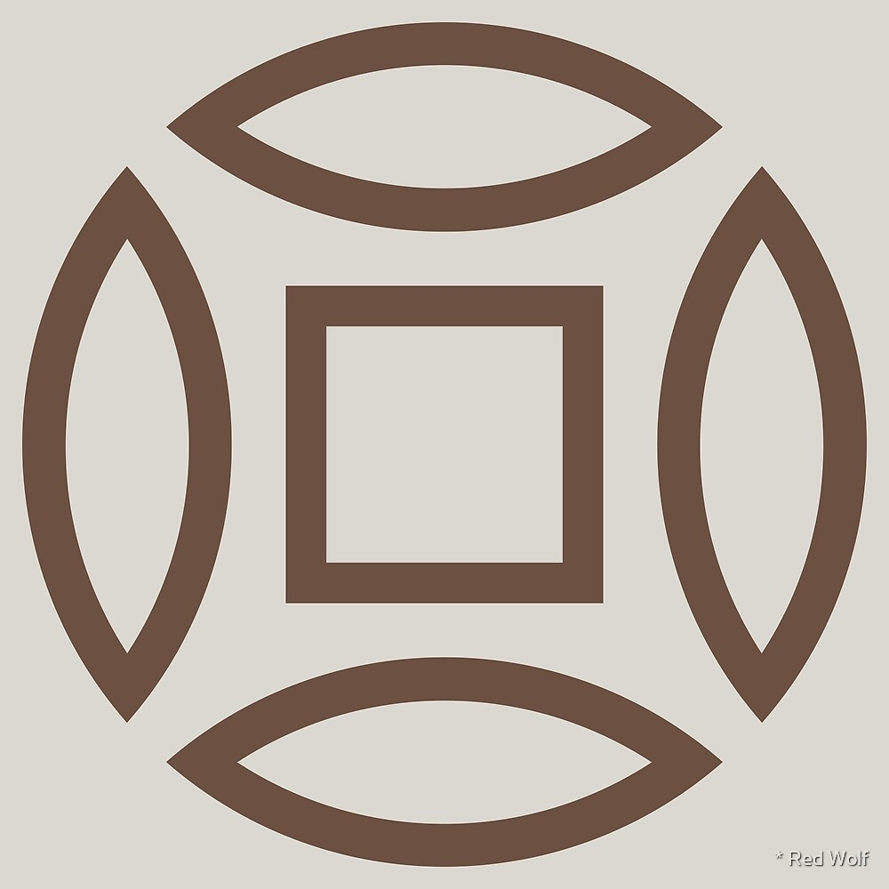 Geometric Pattern: Intersect Outline: Brownstone by * Red Wolf