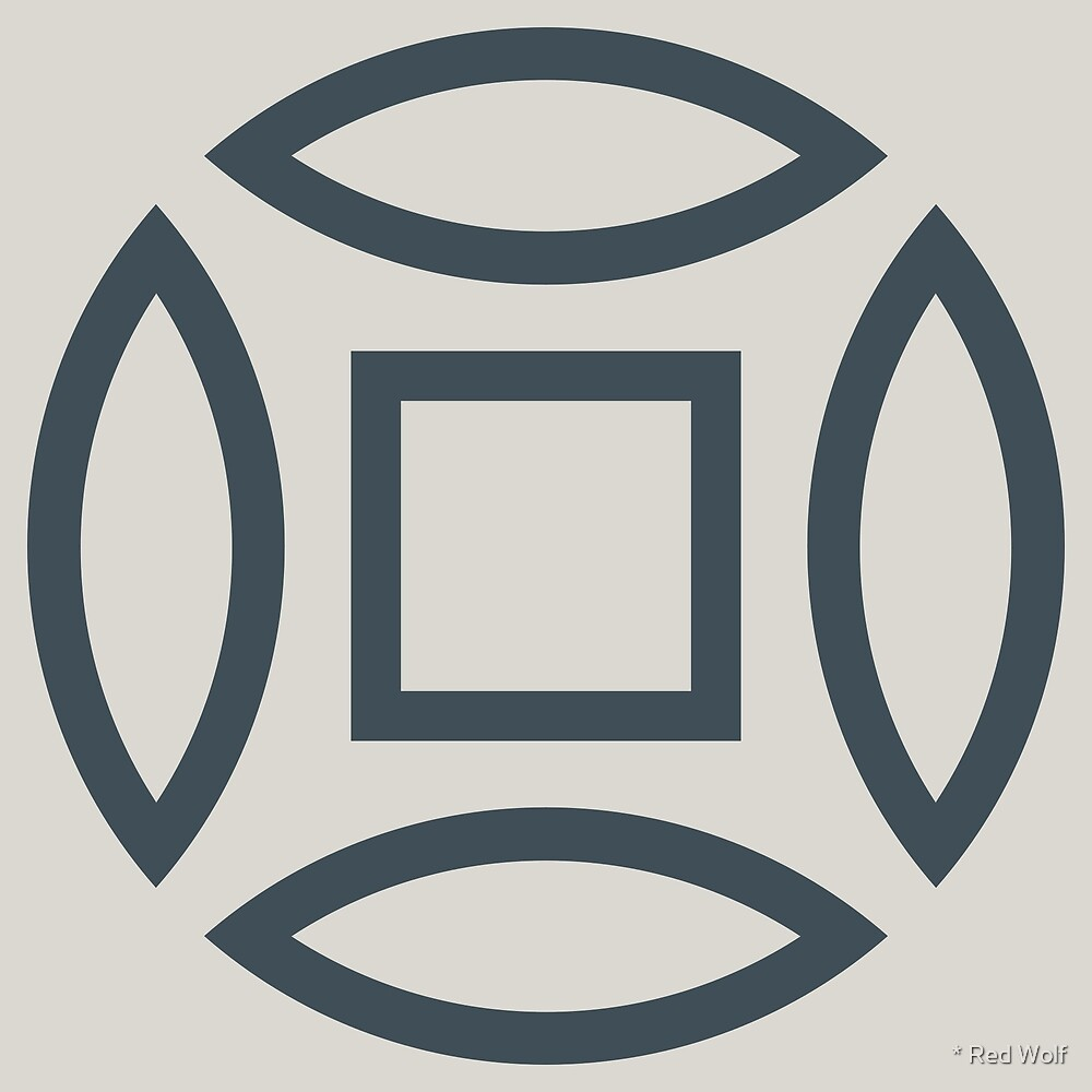 Geometric Pattern: Intersect Outline: Pebble by * Red Wolf