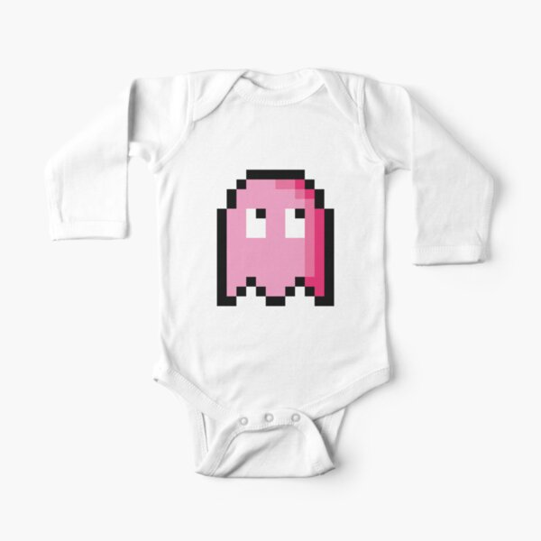 Pixel Ghost Long Sleeve Baby One-Piece