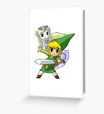 Zelda Link Greeting Card