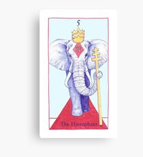 The Hierophant from The BirdQueen Tarot Canvas Print