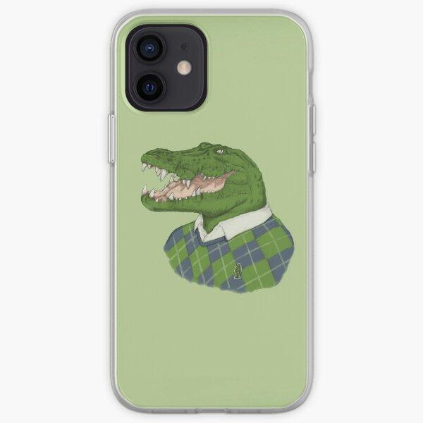 cocodrilos humor lacoste minimalistas Funda blanda para iPhone