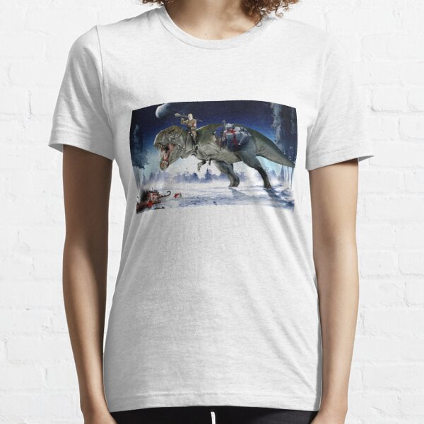 Hitler Riding a T. Rex in the Snow Essential T-Shirt