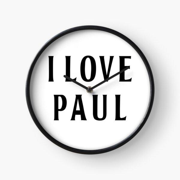 I Love Paul Clock