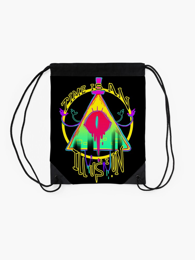 Alternate view of TIME IS AN ILLUSION Drawstring Bag