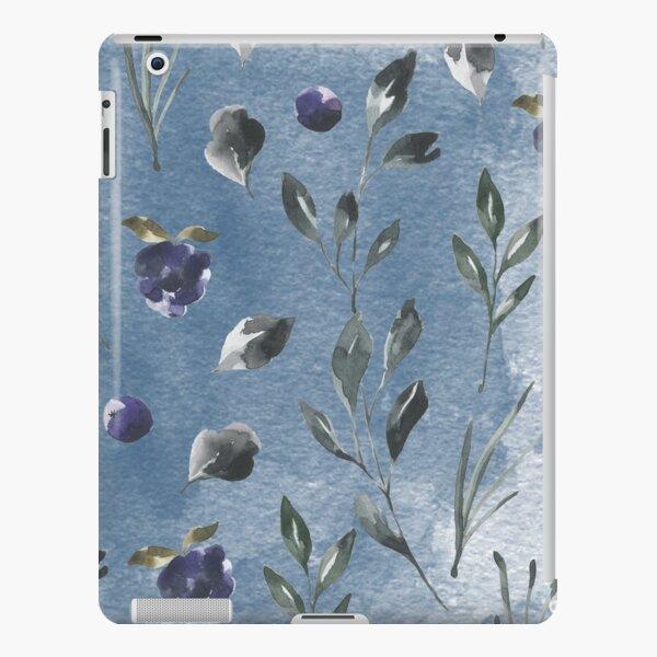 Dark blue watercolor rose flower iPad Snap Case