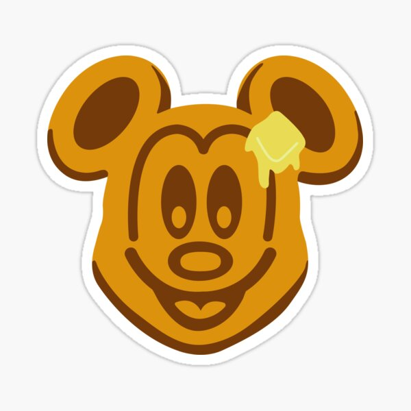 Mickey Waffle Sticker