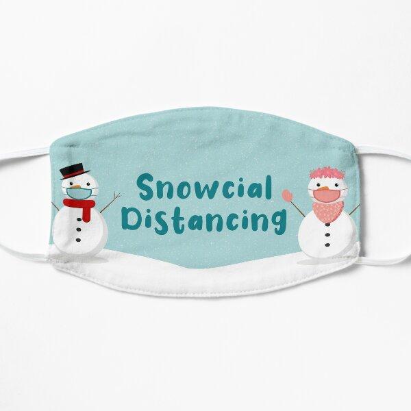 Funny social distancing snowcial distancing christmas MASK Flat Mask