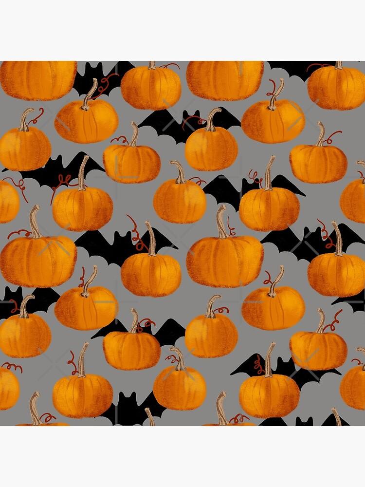 Pumpkin & Bat Pattern by emeraldlane