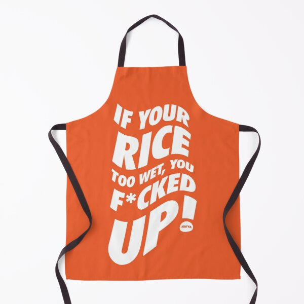 If Your Rice Is Too Wet - Uncle Roger (White) Apron