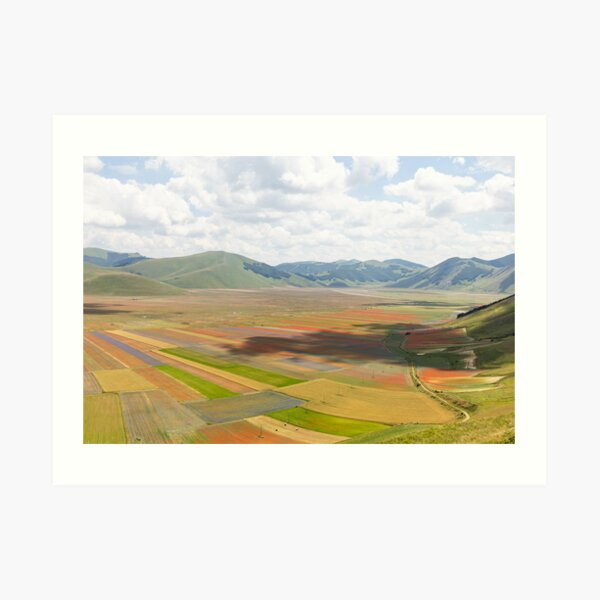 The valley of Castelluccio Art Print