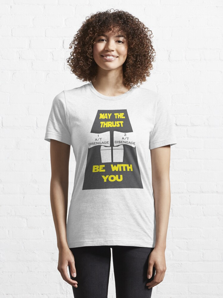 Alternate view of Model 29 - May The Force Be With You Essential T-Shirt