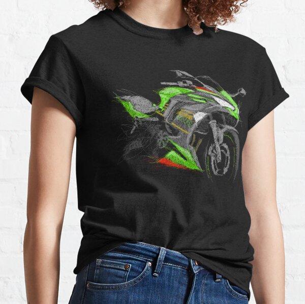 Kawasaki Ninja 650 2017 Style Moto Art tee-shirt Homme