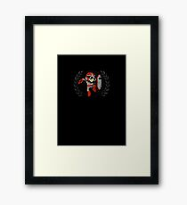 Proto Man - Sprite Badge Framed Print