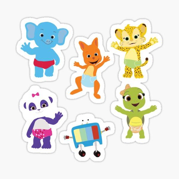 Word Party Animals Sticker