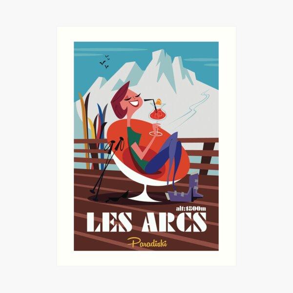Les Arcs poster Art Print