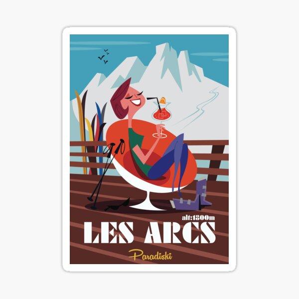 Les Arcs poster Sticker