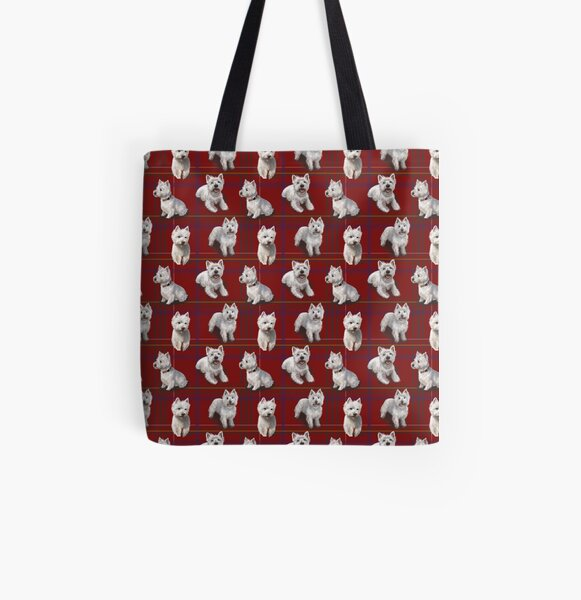 West Highland Terrier Westie All Over Print Tote Bag
