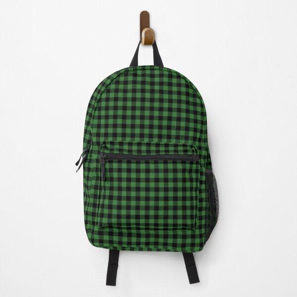 Mini Black and Dark Green Cowboy Buffalo Check Gingham Backpack