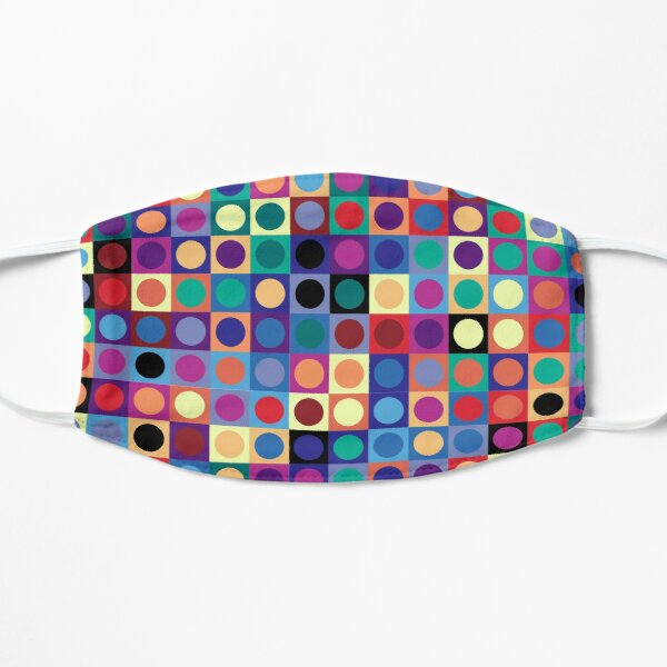 Vasarely Inspired Flat Mask