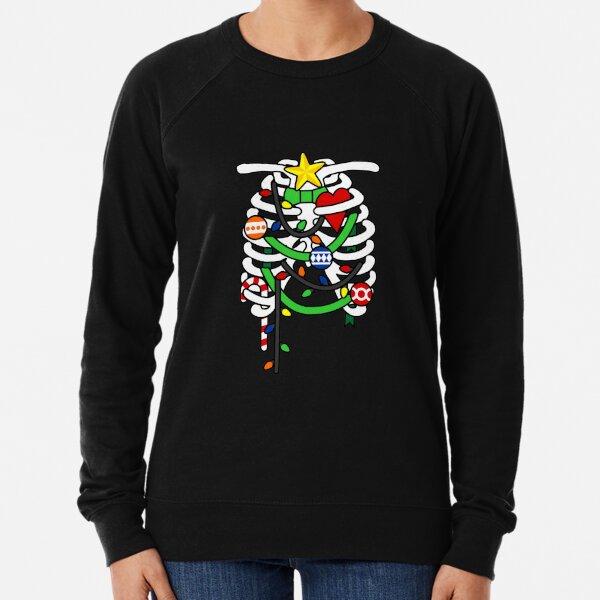 Christmas X-Ray Ribs Skeleton Lightweight Sweatshirt