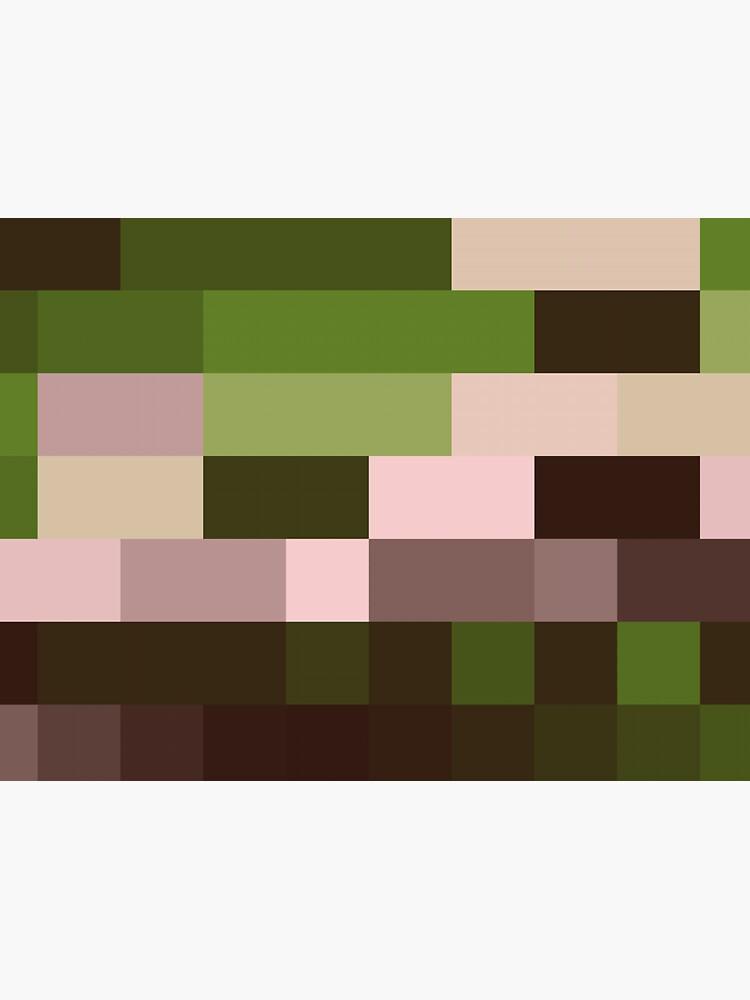 Checkered Pattern Green Brown Pink by garretbohl