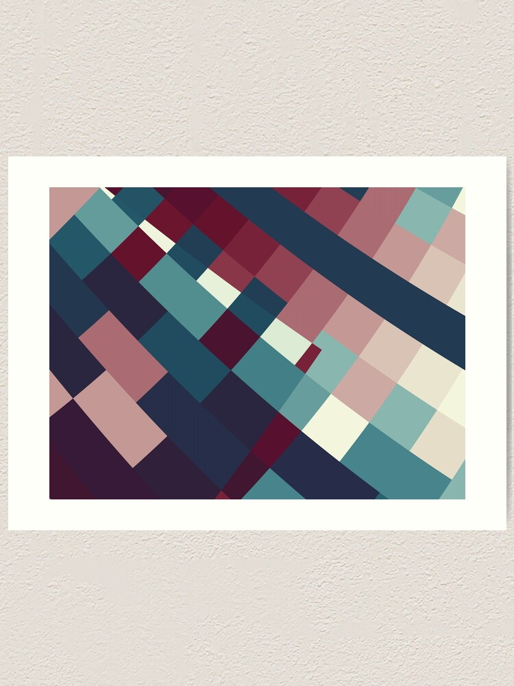 Alternate view of Windows Abstract Squares Red Blue White Art Print