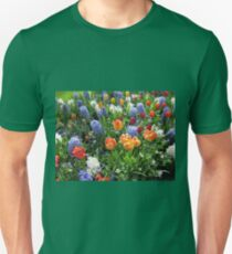 Colourful Array of Tulips and Hyacinths - Keukenhof Gardens T-Shirt