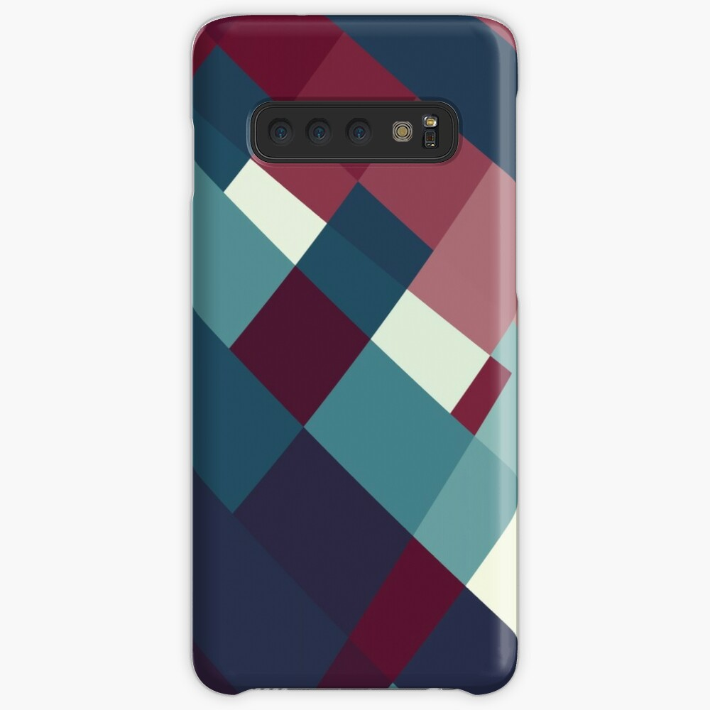 Windows Abstract Squares Red Blue White Case & Skin for Samsung Galaxy