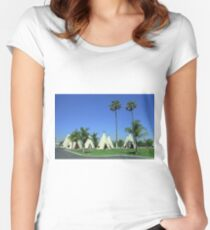 Route 66 - Wigwam Motel Women's Fitted Scoop T-Shirt