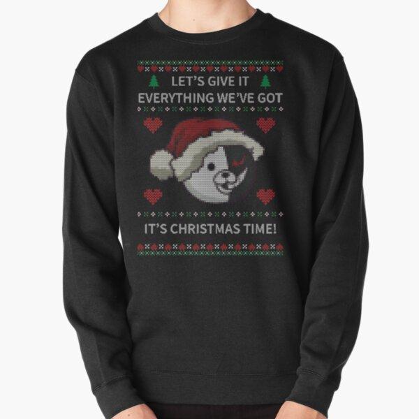 Monokuma Ugly Christmas Sweater - Dangan Pullover Sweatshirt