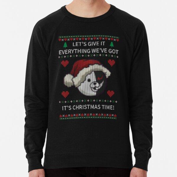 Monokuma Ugly Christmas Sweater - Dangan Lightweight Sweatshirt