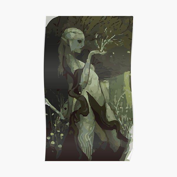 Female Elf Tarot Card Poster