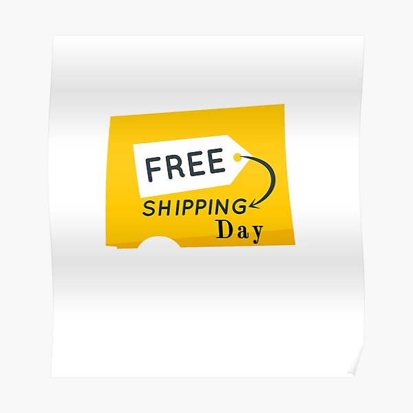 FREE SHIPPING DAY ESSENTIEL T-SHIRT Poster