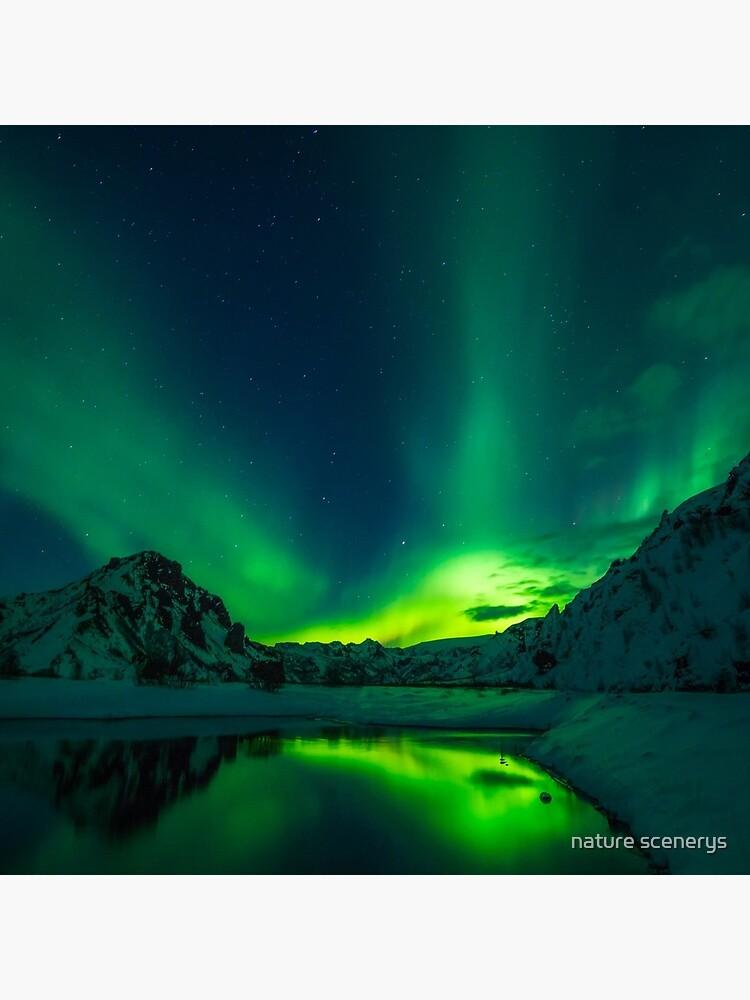 Iceland aurora borealis northern lights by Haylenor77