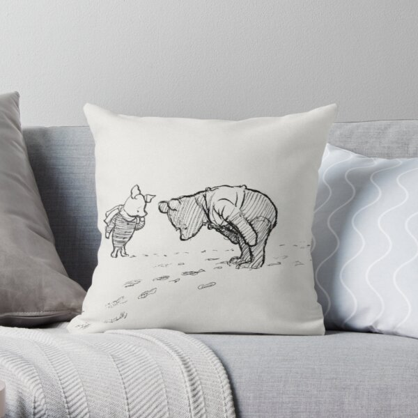 Winnie the Pooh Sketch Throw Pillow