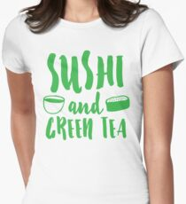 SUSHI and GREEN TEA Women's Fitted T-Shirt