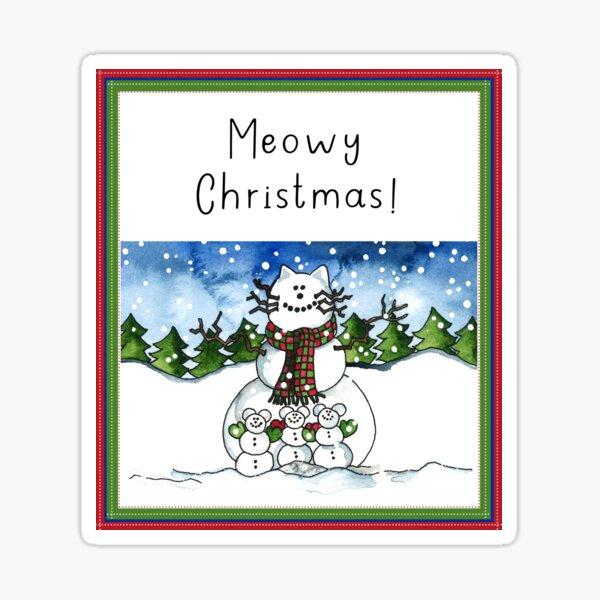 Meowy Christmas! Sticker