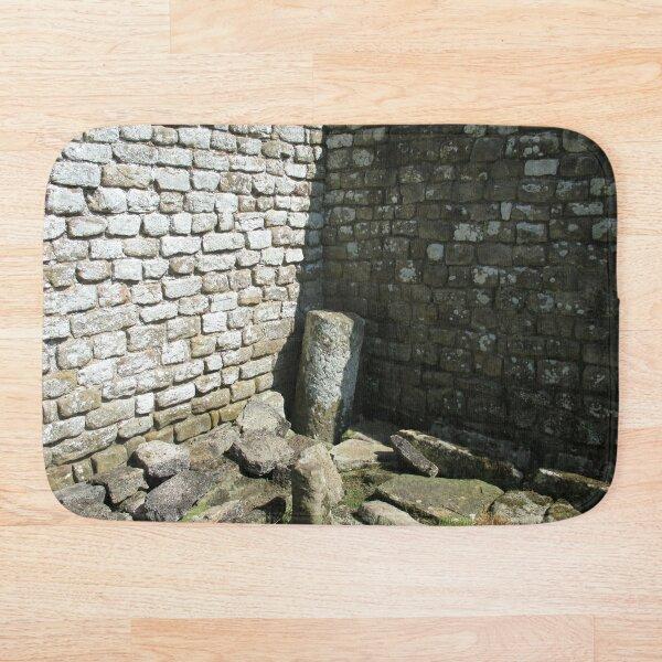 Merch #104 -- Two-Tone Walls (Hadrian's Wall) Bath Mat