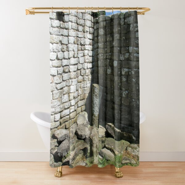 Merch #104 -- Two-Tone Walls (Hadrian's Wall) Shower Curtain