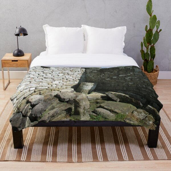 Merch #104 -- Two-Tone Walls (Hadrian's Wall) Throw Blanket