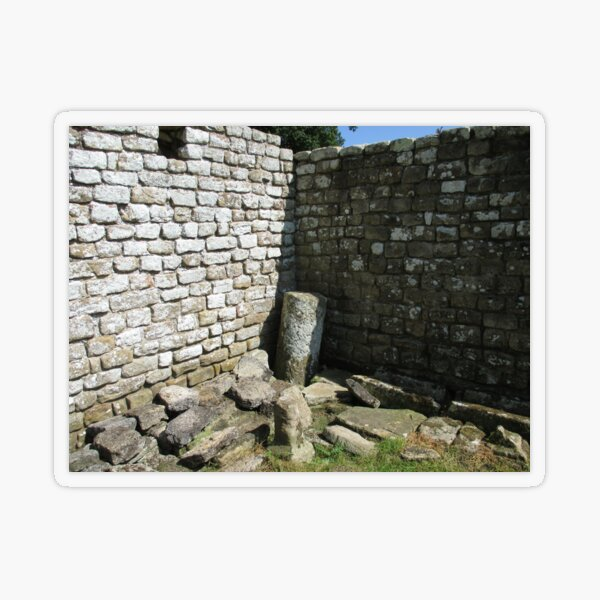 Merch #104 -- Two-Tone Walls (Hadrian's Wall) Transparent Sticker